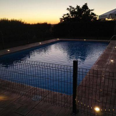 Reparación piscina noche